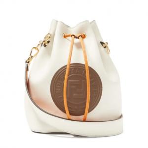 FENDI  Mon Tresor logo-embossed leather bucket bag