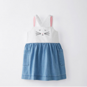 Hanna Andersson Bunny Jumper In Chambray