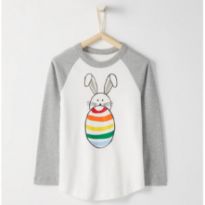 Hanna Andersson Sueded Jersey Baseball Art Tee