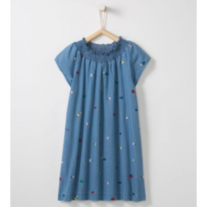 Hanna Andersson Embroidered Chambray Dress