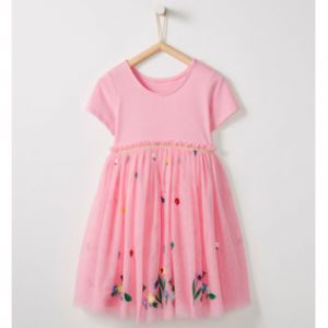 Hanna Andersson Appliqué Dress In Soft Tulle