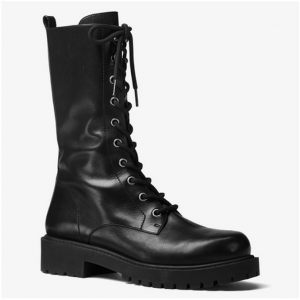 MICHAEL KORS COLLECTION Brenna Calf Leather Combat Boot