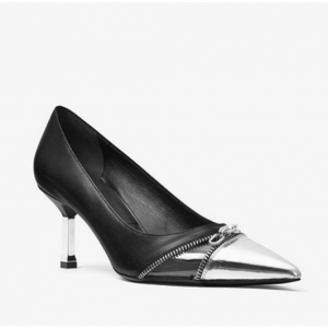 MICHAEL KORS COLLECTION Brooke Leather and Vinyl Pump