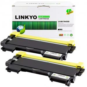 2-Pk Linkyo Value Compatible Brother TN450 TN660 Toner Cartridges (Black) For $8 @Amazon