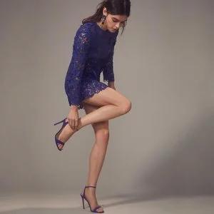 SELF-PORTRAIT Zip Detail Blue Guipure Lace Mini Dress for $76.30 (was $365) @Intermix