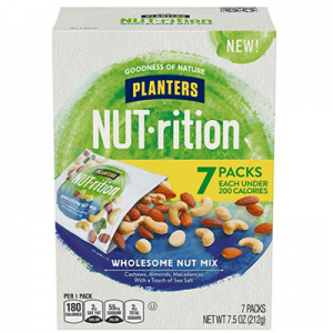 $4.19 Planters NUT-rition Wholesome Nut Mix, 1.25 oz Bags (Pack of 7) @ Amazon