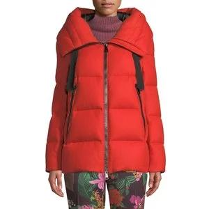 Moncler Serin Virgin Wool Puffer Jacket w/ Hood