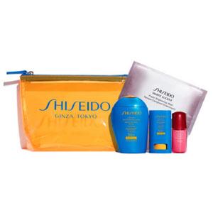 Shiseido 资生堂蓝胖子新艳阳防晒套装 超值热卖