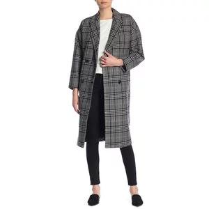 Madewell Goodwin Plaid Wool Blend Overcoat