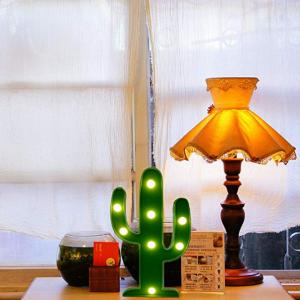 YiaMia LED Cactus Light Cute Night Table Lamp Light @ Amazon