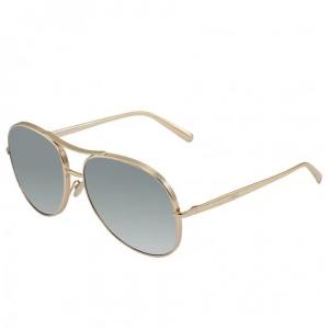CHLOE Light Grey Gradient Aviator Sunglasses