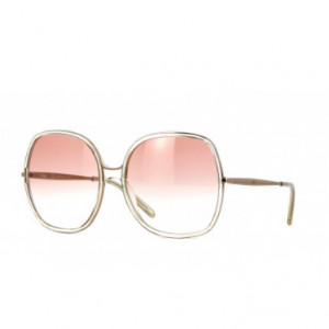 Chloe CE725S 799 - Women's Light Yellow Crystal and Gold Sunglasses