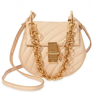 CHLOE Mini Drew Bijou Quilted Leather Bag- Pearl Beige