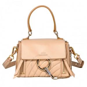 Chloe Mini Faye Shoulder Bag- Pearl