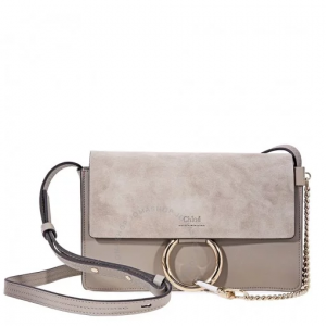 CHLOE Faye Small Shoulder Bag- Motty Grey