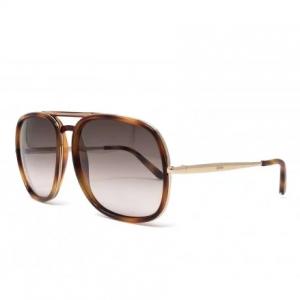 CHLOE Nate Brown Gradient Aviator Ladies Sunglasses CE726S 219
