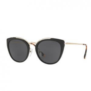Prada Acetate & Metal Mirrored Cat-Eye Sunglasses