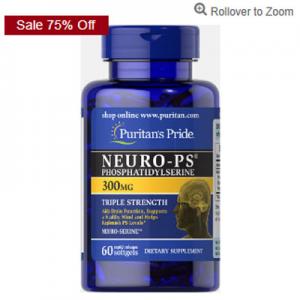 Puritan's Pride Neuro PS 300mg $7.42 (was $29.70 )