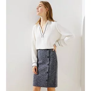 SIDE BUTTON PULL ON PENCIL SKIRT