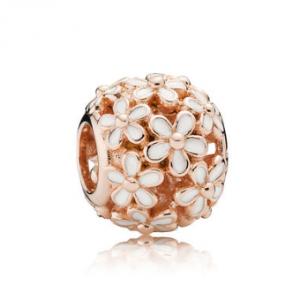 Darling Daisy Meadow Charm, PANDORA Rose™ & White Enamel