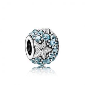 Oceanic Starfish Charm, Frosty Mint CZ
