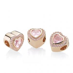 PANDORA Sparkling Love Rose Gold-Tone Charm