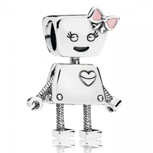 PANDORA Sterling Silver & Enamel Friends Are Family Bella Bot Charm