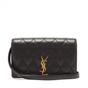 SAINT LAURENT  Monogram quilted-leather cross-body bag