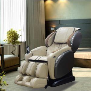 TITAN Osaki Ivory Faux Leather Reclining Massage Chair