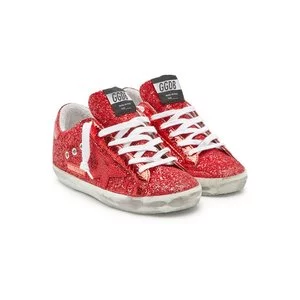 GOLDEN GOOSE DELUXE BRAND Super Star Leather Sneakers with Glitter