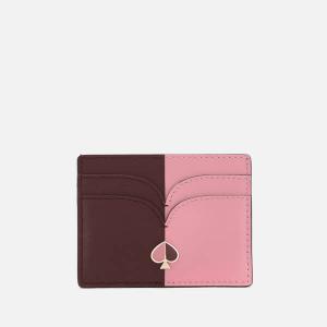 KATE SPADE NEW YORK WOMEN'S NICOLA BI COLOUR CARD HOLDER - ROASTED FIG/ROCOCO PINK