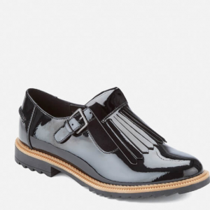 Clarks Women's Griffin Mia Patent Frill T Bar Shoes