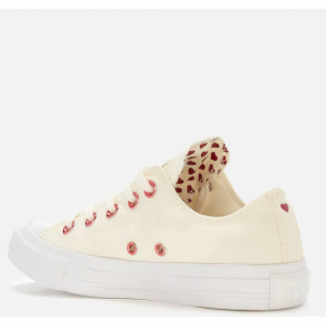 Converse Women's Chuck Taylor All Star Ox Trainers - Egret/Rhubarb/White