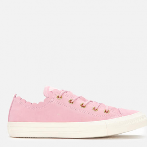 Converse Women's Chuck Taylor All Star Scalloped Edge Ox Trainers - Pink Foam/Gold/Egret