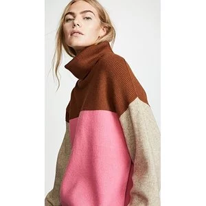 Free People Softly Structured Colorblock Sweater