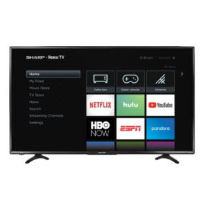 Sharp Smart 4K UHD TV with HDR Roku TV LC-43LBU591U @ Best Buy