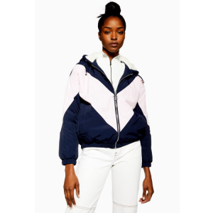 Faux Fur Lined Windbreaker Jacket