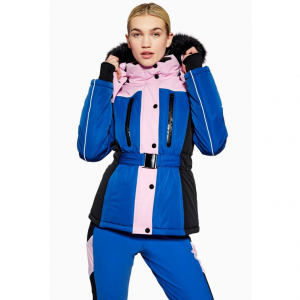 Colour Block Fitted Jacket by Topshop SNO