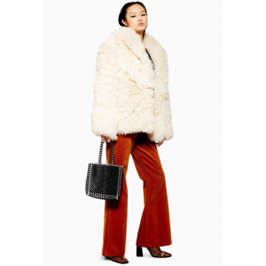 Patched Shearling Coat