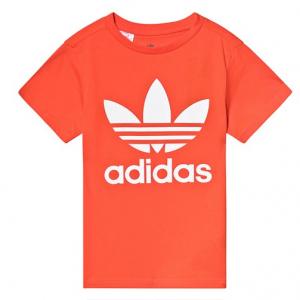 adidas Originals Orange Trefoil Logo T-Shirt