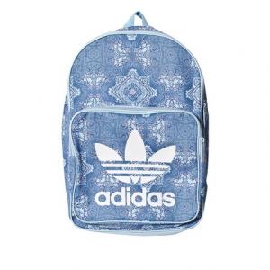 adidas Originals Blue Patterned Logo Backpack