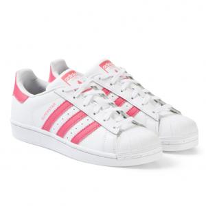 adidas Originals White and Pink Superstar Trainers