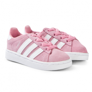 adidas Originals Pink and White Campus Trainers
