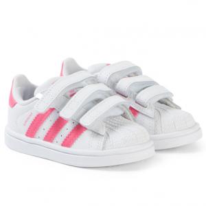 adidas Originals adidas Originals White and Pink Superstar 3V Trainers