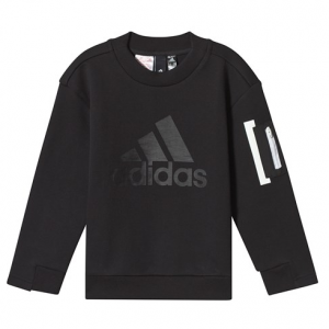 adidas Performance Black Crew Long Sleeve Sweatshirt