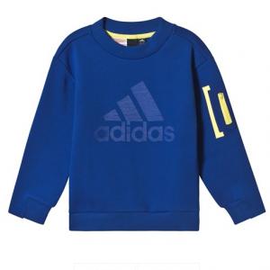 adidas Performance Navy Crew Long Sleeve Sweatshirt