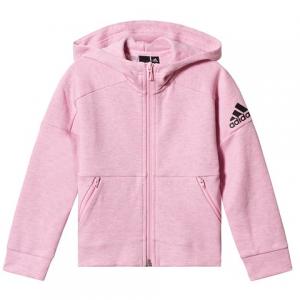 adidas Performance Pink and Grey Full Zip Hoodie