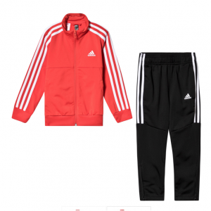 adidas Performance Red and Black Tracksuit