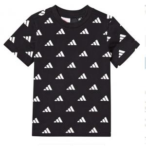 adidas Performance Black All Over Logo T-Shirt
