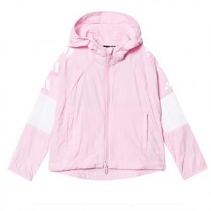 adidas Performance Pink and White Zip Hoodie